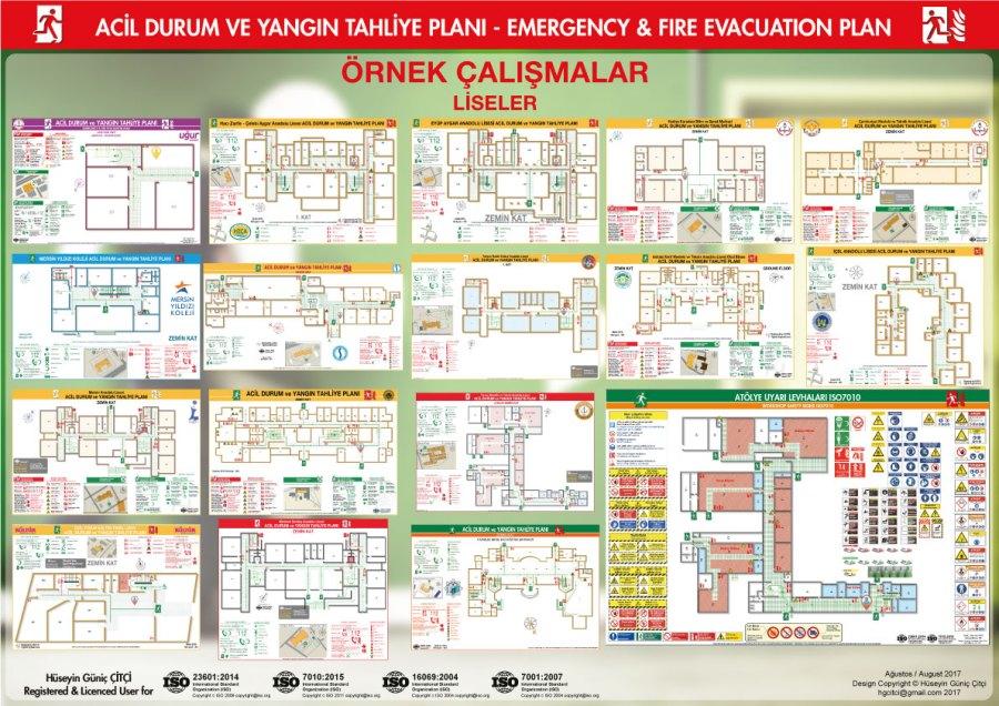 ISO 23601 Acil Durum Ve Yangın Tahliye Planları Referanslar ISO 7010 Uyarı Levhaları ISO 16069 Acil Durum Yönlendirmeleri