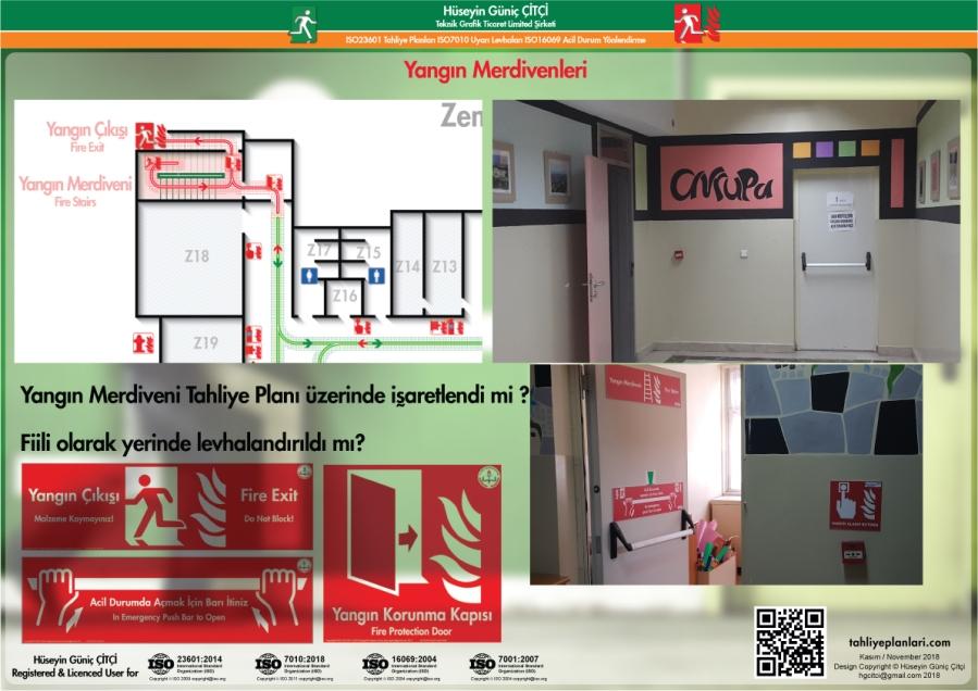 ISO 23601 Acil Durum ve Yangın Tahliye Planları Yangın Merdiveni