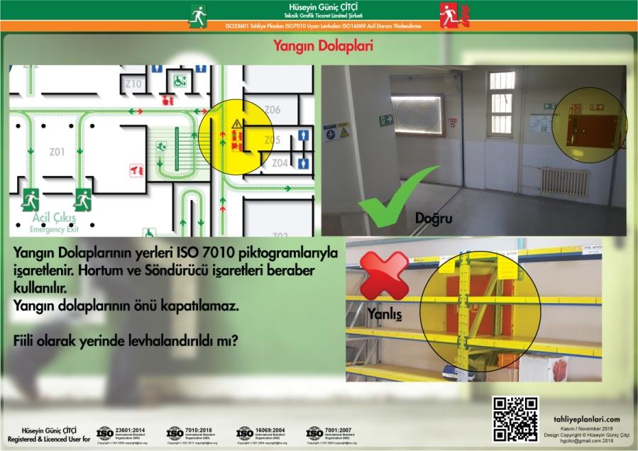 ISO 23601 Acil Durum ve Yangın Tahliye Planları Yangın Dolapları