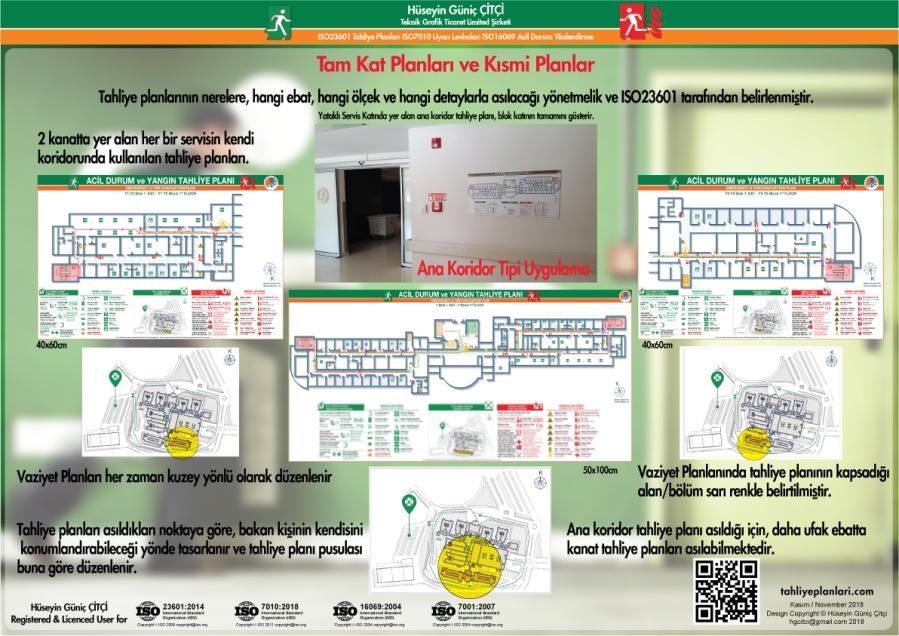 ISO 23601 Acil Durum ve Yangın Tahliye Planları Kısmi Kat ve Tam Kat