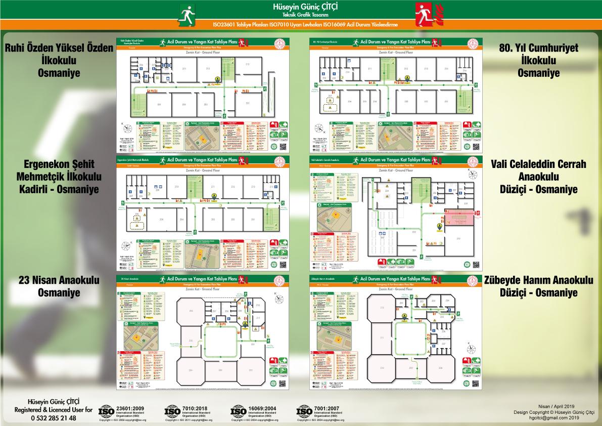 ISO 23601 Acil Durum Ve Yangın Tahliye Kat Planları Osmaniye