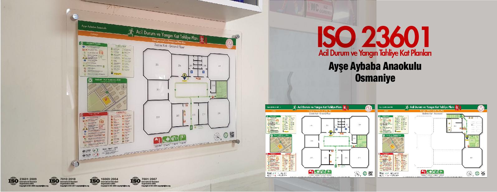 ISO 23601 Acil Durum Ve Yangın Tahliye Kat Planları Osmaniye Ayşe Aybaba Anaokulu