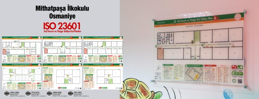 ISO 23601 Acil Durum Ve Yangın Tahliye Kat Planları Osmaniye Mithatpaşa İlkokulu