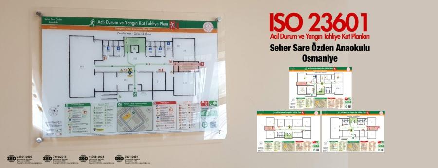 ISO 23601 Acil Durum Ve Yangın Tahliye Kat Planları Osmaniye Seher Sare Özden Anaokulu