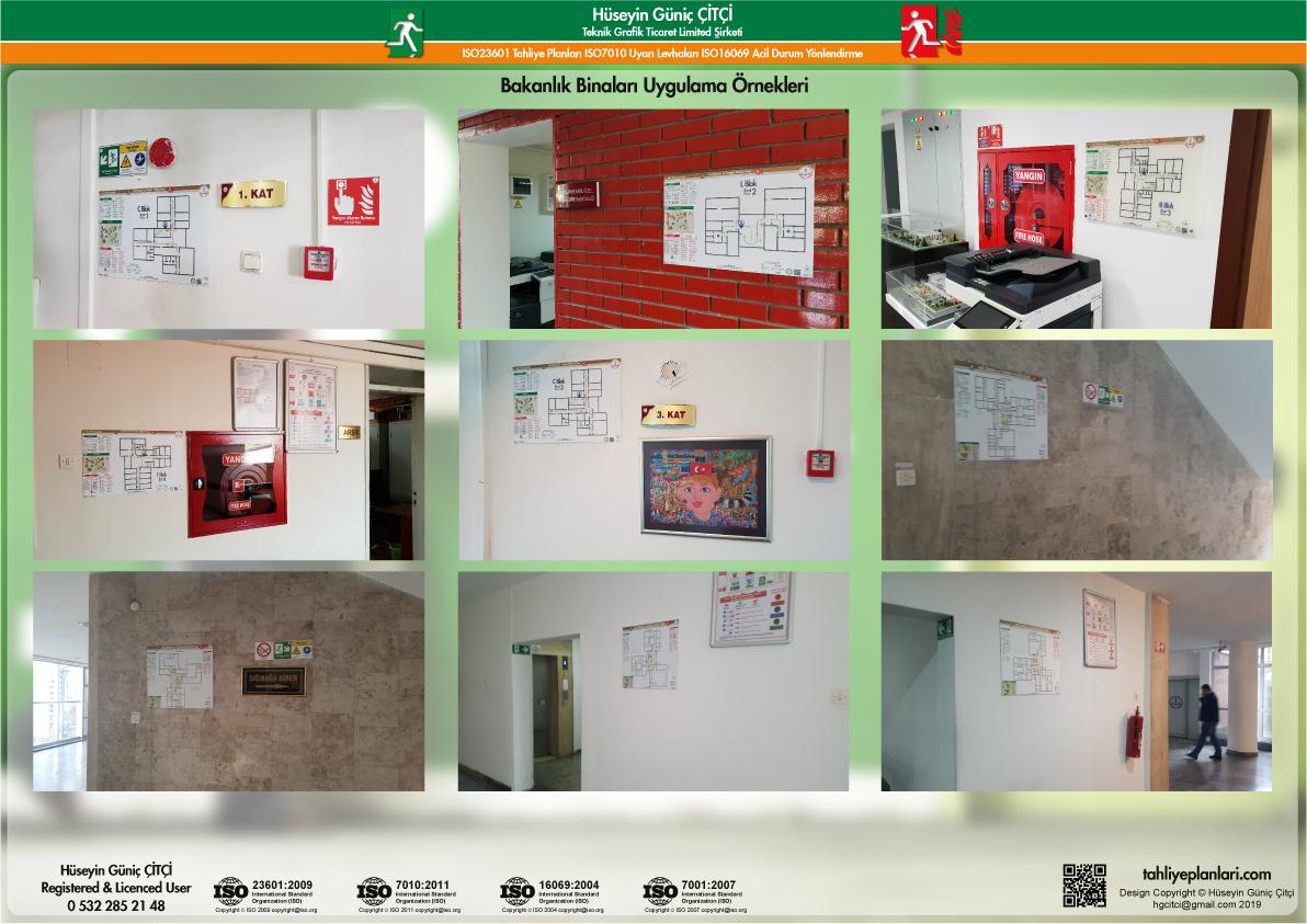 ISO 23601 Acil Durum Tahliye ve Yangın Tahliye Kat Planları