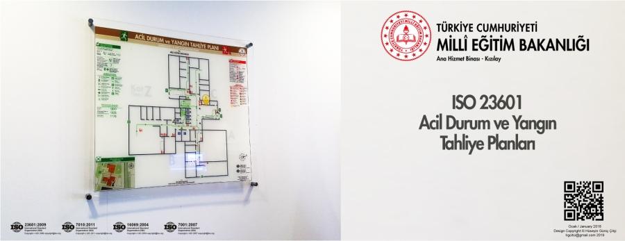 ISO 23601 Acil Durum Ve Yangın Tahliye Kat Planları MEB Ana Hizmet Binası Ankara Kızılay