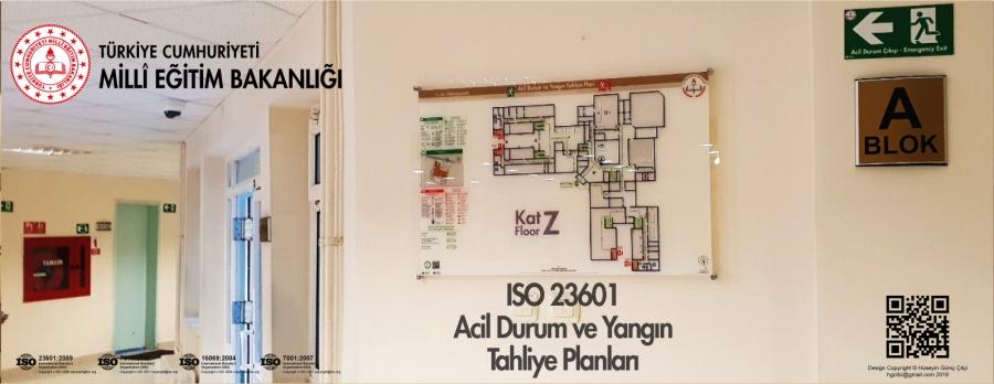 ISO 23601 Acil Durum Ve Yangın Tahliye Kat Planları MEB Ankara