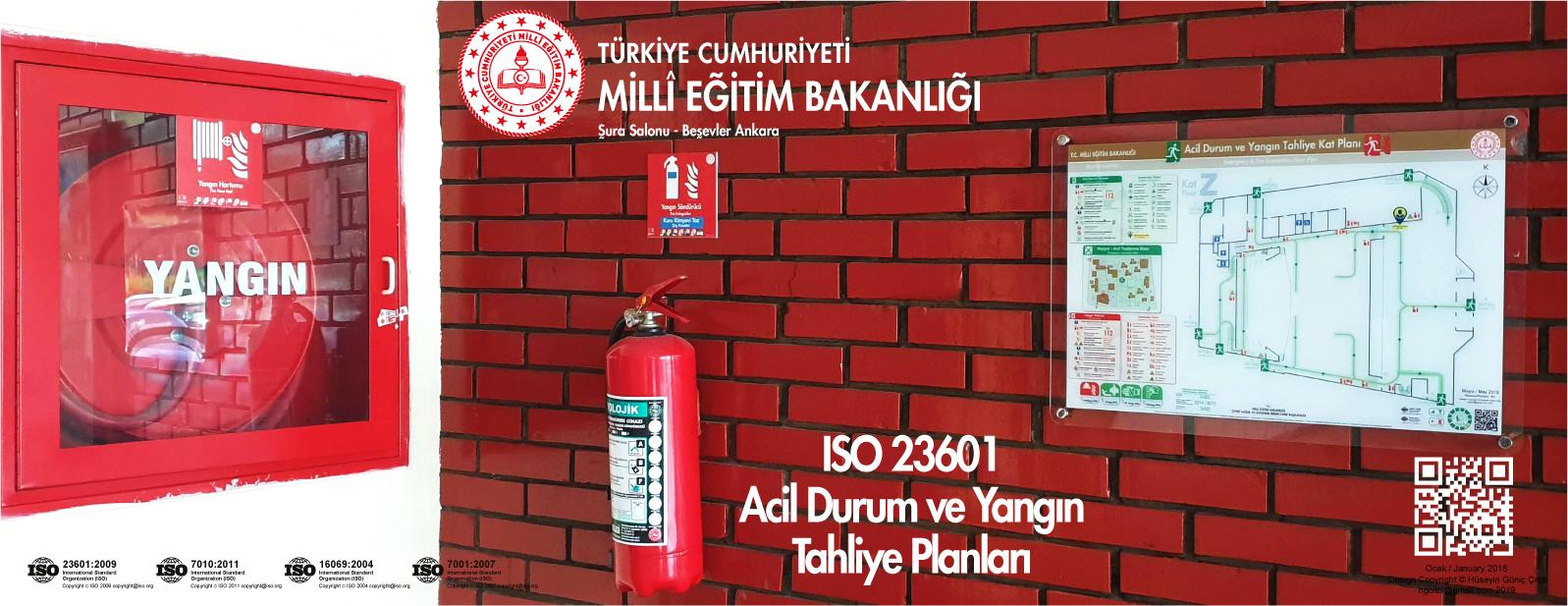 ISO 23601 Acil Durum Ve Yangın Tahliye Kat Planları MEB Şura Salonu Binası Beşevler Ankara