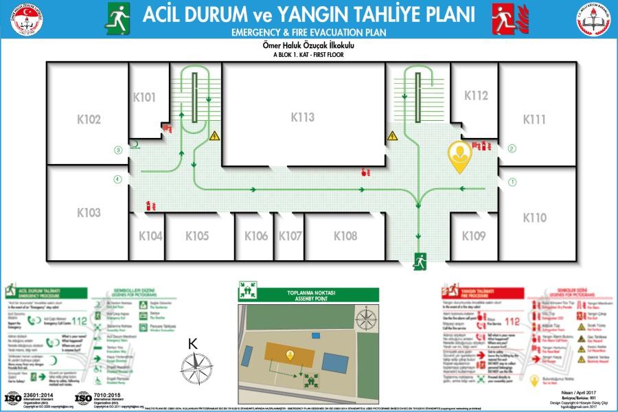 Acil Durum Taliye ve Yangın Tahliye Plan 000 Adana Seyhan Ömer Haluk Özuçak İlkokulu