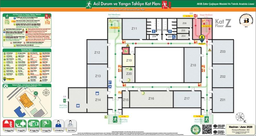 TP AKIB MTAL 2020 ISO 23601 Acil Durum ve Yangin Tahliye Kat Plan
